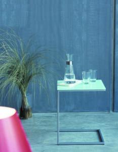 Classico / Table basse carrée 40 cm en verre Jankurtz (ref. 10039)