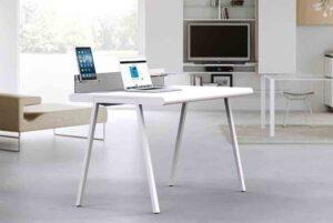 Sitness Desk / Bureau Home office L120 cm Blanc