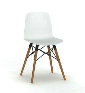 Elfi / Chaise visiteur 4 pieds bois MBEco (ref. 10074i)
