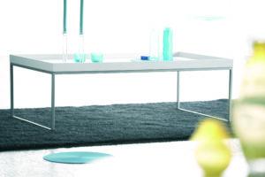 Pizzo / Table basse rectangulaire L110 cm Blanc Jankurtz (ref. 10079)