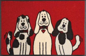 Three Dogs / Tapis anti-salissures 50 x 75 cm Wash & Dry (ref. 10211)