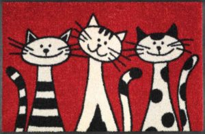 Three Cats / Tapis anti-salissures 50 x 75 cm Wash & Dry (ref. 10212)