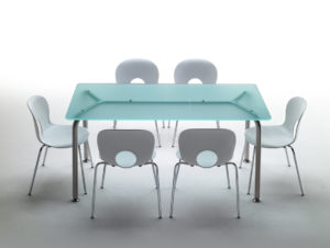 Convito / Table rectangulaire en verre Rexite (ref. 10242i)