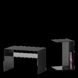 U2 XL / Table Basse H60 x 38 x 38 cm Noir Cascando (ref. 10408)