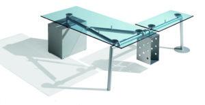 Isotta / Bureau en verre rectangulaire caisson à droite Ultom (ref. 10606i)