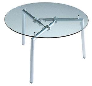 Isotta / Table de réunion ronde en verre Ultom (ref. 10615i)