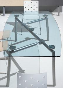 Isotta / Table de réunion rectangulaire en verre Ultom (ref. 10617i)