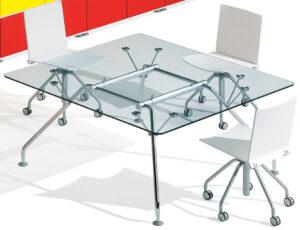 Prospero Ultom / Table de réunion en verre carrée Ultom (ref. 10635i)