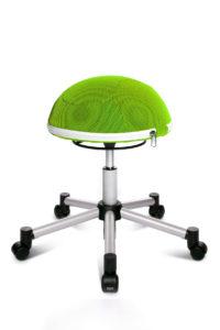 Sitness half ball / Tabouret ergonomique sur roulettes Topstar (ref. 10659i)