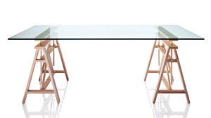 Teatro / Table en verre avec tréteaux 200 cm Magis (ref. 10764)