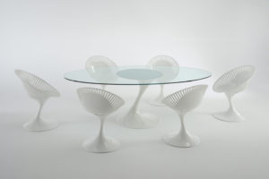 Atatlas / Table ovale verre transparent Casprini (ref. 10902)