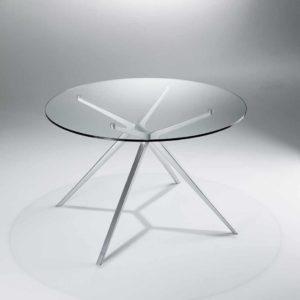 Ex / Table ronde D140 cm verre transparent Casprini (ref. 10904)