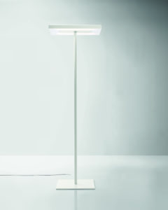 Linea / Lampadaire pied central à LED Blanc Nyx by Karboxx (ref. 10943)