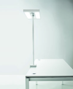 Linea bench / Lampe à LED avec fixation centrale Blanc Nyx by Karboxx (ref. 10946)