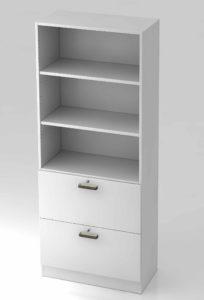 Officina 1 / Etagère haute 2 tiroirs dossiers suspendus H200 cm (ref. 11134i)