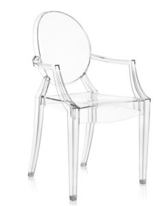 Louis Ghost / Fauteuil Philippe Starck transparent Kartell (ref. 11168)