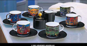 F. Hundertwasser / Tasses à café par 6 Ars mundi (ref. 11453)