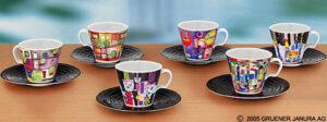 F. Hundertwasser / Tasses à café par 6 Ars mundi (ref. 11454)