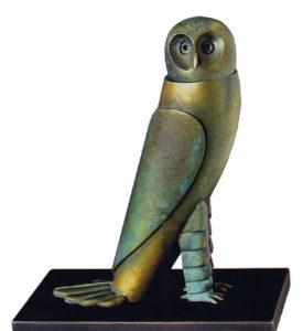Petite Chouette / Sculpture en bronze Ars mundi (ref. 11460)