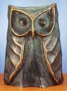 Chouette / Sculpture en bronze Ars mundi (ref. 11461)