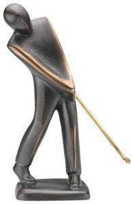 Golfeur / Sculpture en bronze Ars mundi (ref. 11487)