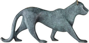 Panthère / Sculpture en bronze Ars mundi (ref. 11496)
