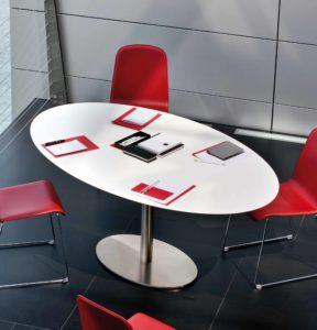 Inox Ellittico / Table ovale 180 x 110 cm Pedrali (ref. 11517)