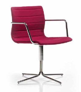 Miss / Chaise de réunion pivotante avec accoudoirs Diemme (ref. 11576)