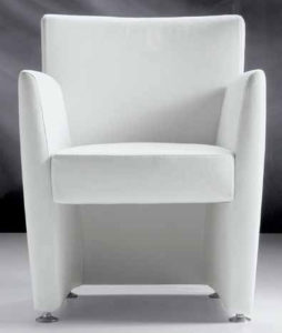 Nana / Fauteuil en cuir blanc FratelliFerro (ref. 11602)