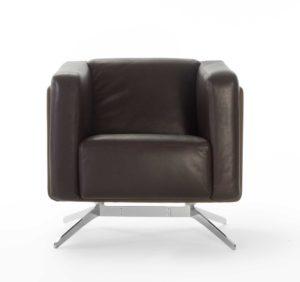 Coco / Fauteuil Lounge en cuir Rossin (ref. 11616)