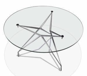 Apollo / Table ronde verre transparent D 120 cm Casprini (ref. 11725)