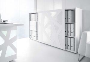 Zig-Zag / Armoire à porte coulissante + 4 tiroirs