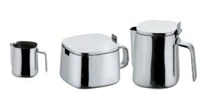 Série A400 / A403/A404/A411 / Ensemble Pot à lait + Sucrier + Crémier Alessi (ref. 11909)