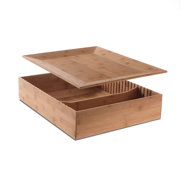 Fat tray / Plateau/Conteneur en bambou Alessi (ref. 11981)
