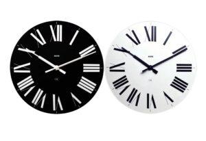 Firenze / Set de 2 horloges Noire et Blanche Alessi (ref. 12034)