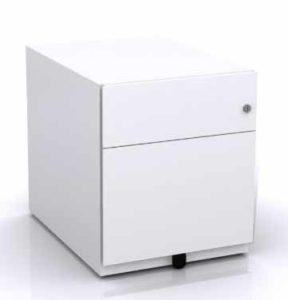 Note / Caisson mobile 2 tiroirs dont 1 dossiers suspendus + plumier Bisley (ref. 12068i)