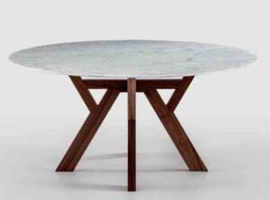 Trigono / Table ronde Ø 130 cm marbre Bross (ref. 12114)