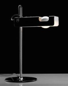 Spider / Lampe de bureau Joe Colombo Noir Oluce (ref. 12260)