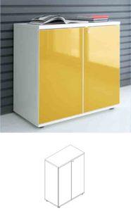 Gloss / Armoire moyenne H113 x 80 cm portes battantes mdd (ref. 12422i)