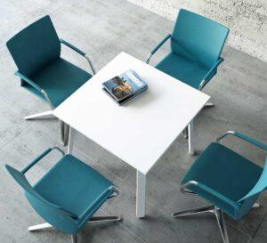 Ogi A / Table carrée 80 x 80 cm Blanc mdd (ref. 12541)