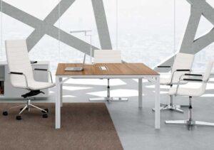 X8 / Table de réunion carrée 140 x 140 cm Officity (ref. 12559i)