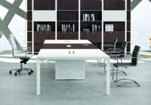 X8 / Table de réunion rectangulaire 420 x 140 cm Officity (ref. 12561i)