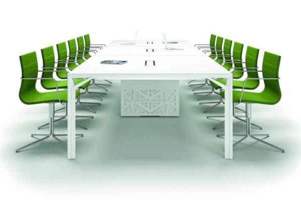 X8 / Table de réunion rectangulaire 480 x 140 cm Officity (ref. 12565i)