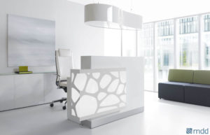 Organic / Banque d'accueil à LED décor à gauche mdd (ref. 12640i)