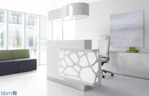 Organic / Banque d'accueil à LED décor à droite mdd (ref. 12641i)