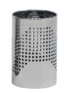Quadrotto / Corbeille à papier 10 L Acier inox poli perforé G-Line Pro (ref. 12748)