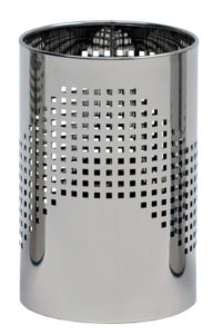 Quadrotto / Corbeille à papier 18 L Acier inox poli perforé G-Line Pro (ref. 12749)