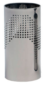 Quadrotto / Corbeille à papier 24 L Acier inox poli perforé G-Line Pro (ref. 12750)
