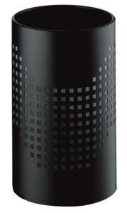 Quadrotto / Corbeille à papier 24 L Acier perforé Noir G-Line Pro (ref. 12751)