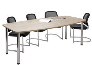 Officemeeting / Table de réunion 220 cm 4 pieds chromés (ref. 12778i)